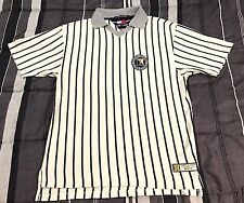Vintage 90s Tommy Hilfiger Athletics Spellout Striped Baseball Jersey Shirt - M