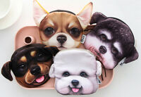 Dogs Puppies Pets Fluffy Toy Novelty Cute Purse Wallet Cosmetic Pouch Coin Bag