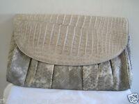 ARMENTA Python Caiman Crocodile Chain Shoulder Bag Handbag Clutch, Stone