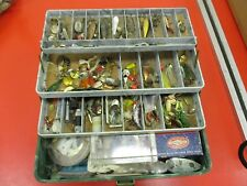 VINTAGE TACKLE BOX FULL OF LURES
