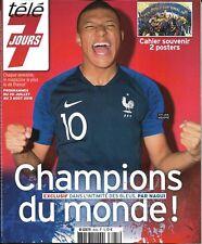 TELE 7 JOURS n°3035 28/07/2018  Champions du monde! Au coeur des Bleus; Poster
