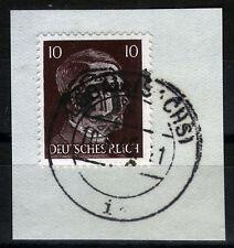 Löbau 9 Briefstück, 10 Pf. Hitler mit Aufdruck