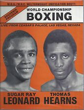 1981 Sugar Ray Leonard Vs Thomas Hit Man Hearns Boxing Program - Las Vegas