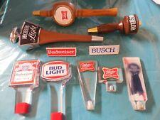 Beer Tap Handle Lot - Budweiser / Miller / Michelob