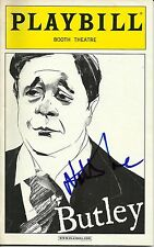 Nathan Lane signed Butley Playbill