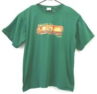 Carnival Cruise Line Men's 2XL Naples Italy Cotton Short Sleeve T-Shirt Green