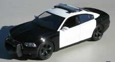 Motormax 1/24 2011 Dodge Charger Police Car Blank Black & White 76935