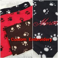 "Personalized Pet Textured Blanket Cat or Dog 28"" x 33"" Red, Brown or Black"