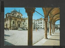 Vintage Colour P/C Sponza Palace and Church St. Vlaho Dubrovnik Croatia unposted