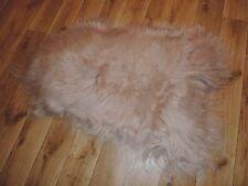 Real Premium Iceland Sheepskin Sheepskin Lambskin fur Top Tanned Light Braun