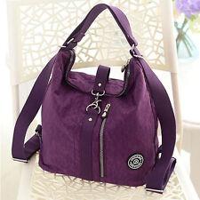 Damen Rucksack Beuteltasche Handtasche Tasche HoboBag Beutel Schultertasche Blau