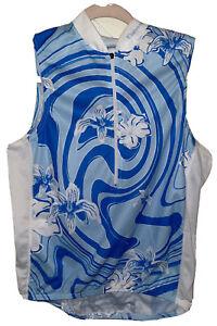 Cannondale Women's Size M Biking Blue Cycling Shirt Jersey Sleeveless Mesh READ