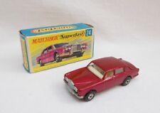 Vintage Matchbox Superfast No 24 Rolls Royce Silver Shadow Car & Box - By Lesney