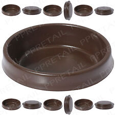 12x Large Brown Castor Cups ~FLOOR PROTECTOR GLIDES~ Furniture Carpet/Sofa/Chair