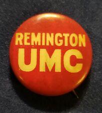 Original Vintage Remington UMC Pinback Button from approx 1912  Excellent+ *52