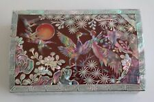 Jewerly Box Mother of Pearl Desk Business Card Case Name Cards Holder Gift Case