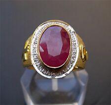 Bishop 18K Ruby Diamond Ring_Big Oval