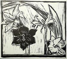 Sanna schubring-Amaryllis-Linolschnitt 1940