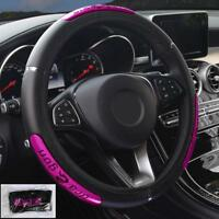 Dragon Design Leather Auto Car Steering Wheel Cover Anti-Catch Holder Protector