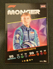 More details for topps turbo attax 2021 f1 formula 1 - billy monger fan favourite bm1 card