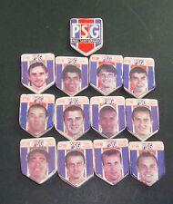 LOT SERIE DE 13 FEVES  PARIS SG PSG 1997 1998 FOOTBALL MOULIN A HUILE B