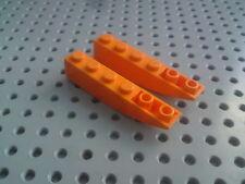 Lego Slope Inverted Curved 1x6 [42023] - Orange x2