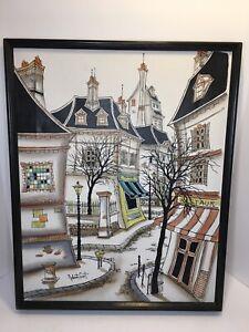 Impressionist Painting Paris France Street Scene Robert Scott