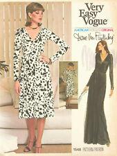 """1976 Vintage VOGUE Sewing Pattern WRAP DRESS B38"""" (1891) Diane Von Furstenberg"""