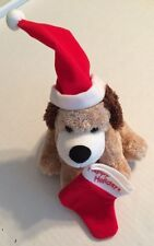 "Hallmark Happy Holidays Stocking Dog Plush 6"""