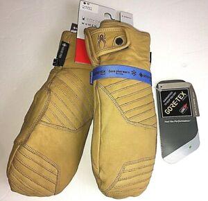 Spyder Women's Active Sports Turret GoreTex Ski Glove Mittens Leather Brown XS