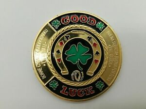 Gold Good Luck Poker Card Guard Hand Protector US Seller Fast Ship