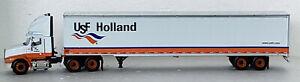 DCP USF HOLLAND, IH 9400 SEMI TRUCK & DRY VAN TRAILER 1:64 (NEW)