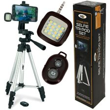 NEW NGT FISHING SELFIE TRIPOD SET WITH REMOTE AND LIGHT CARP FISHING POD STAND