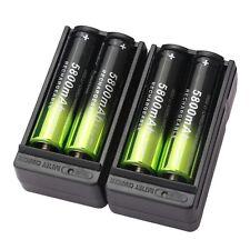 110V-240V Energy-efficient Charger +4pcs 18650 3.7V 5800mAh Rechargeable Battery