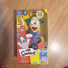 The Simpsons Krusty the Clown Talking Doll Original Version 2001 complete in box