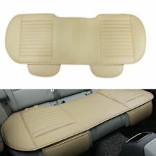 Beige Car Seat Cover PU Leather Breathable Seat Back Cover for Universal Car SUV