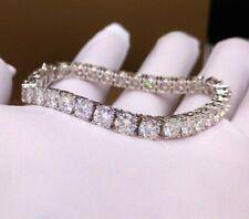 11.30 TCW Round Cut DVVS1 Moissanite Tennis Bracelet in 14K White Gold Plated