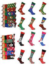 6 12 Pairs Men's Ladies Festive Christmas Design Novelty Socks Women's Xmas Gift