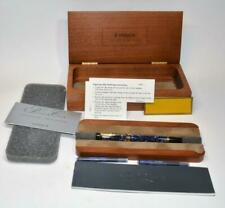 NIB Parker Duofold Centennial Blue Marble Fountain Pen 18k gold M nib wood box