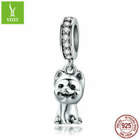 925 Sterling Silver Pomeranian Silver Charm Beads For Women Chain Fit Bracelet