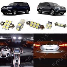 10x White LED lights interior package kit for 2008-2013 Toyota Highlander TH1W