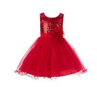 NEW Wedding Sequin Mesh Flower Girl Dresses Reception Christmas Halloween 011NF