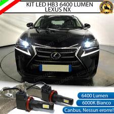 KIT FULL LED LEXUS NX LAMPADE ABBAGLIANTI LED HB3 6000K NO ERRORE 6400 LUMEN