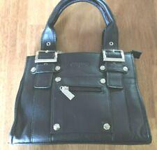 4eff119ca4fb6 Carpisa Black Faux Leather Ladies Small Evening Classy Handbag Purse 7 x 9  x 4