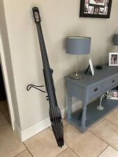 More details for stagg 3/4 electric double bass outfit - metallic black
