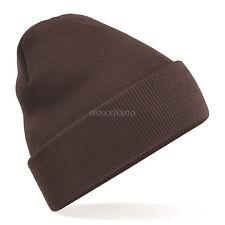 Beanie Hat Mens Solid Plain Knit Ski Cap Warm Slouchy Skull Winter Cuff Thermal
