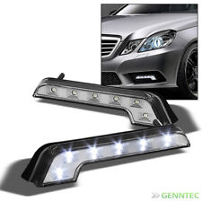 Benz-Style L-Shaped Chrome Hyper White 6 Led Drl Daytime Bumper Fog Lights Pair