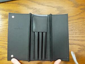 Graf von Faber-Castell black 3 Pen Case, Leather, Rigid *** used ***