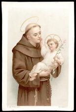antico santino cromo-holy card S.ANTONIO DA PADOVA 3