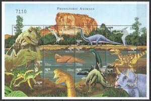 Bhutan 1999 MNH SS, Prehistoric Animals, Dinosaurs, Flying Dinosaurs